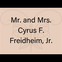 Mr. and Mrs. Cyrus F. Freidheim, Jr.