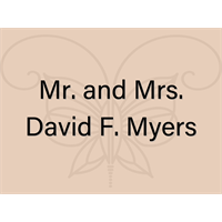 Mr. and Mrs. David F. Myers