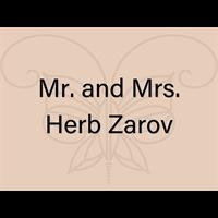 Mr. and Mrs. Herb Zarov